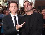Acusan a Robert Downey Jr. de borrar a Tom Holland de la foto que usó para apoyar a Chris Pratt