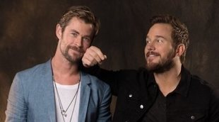 Chris Pratt le pide a Chris Hemsworth que deje de entrenar tanto para 'Thor 4'