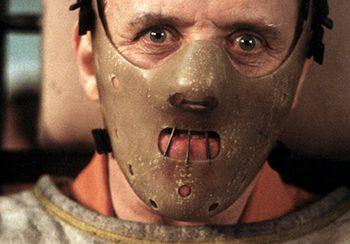 Anthony Hopkins como Hannibal Lecter en 'El silencio de los corderos'