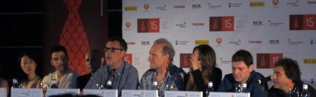 El equipo de 'The Pelayos' en la rueda de prensa del Festival de Málaga 2012