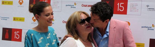 María León, Carmina Barrios y Paco León en el Festival de Málaga 2012 por 'Carmina o revienta'