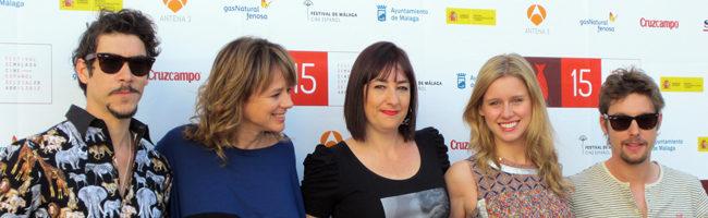 El equipo de 'Buscando a Eimish' en el Festival de Málaga 2012