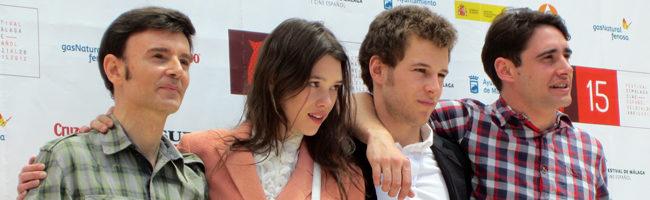 El equipo de 'El sexo de los ángeles' en el Festival de Málaga 2012