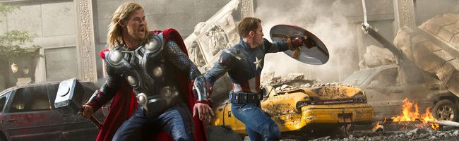 Thor y Capitán América en 'Los Vengadores'