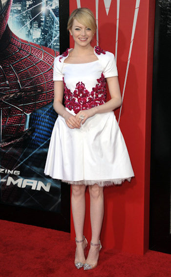 Emma Stone en la premiere de The Amazing Spider-Man en Los Angeles