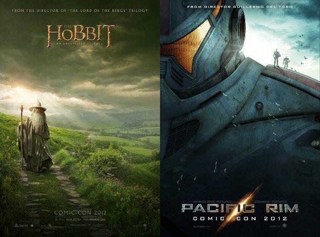 Carteles de El Hobbit y Pacific Rim para la Comic Con