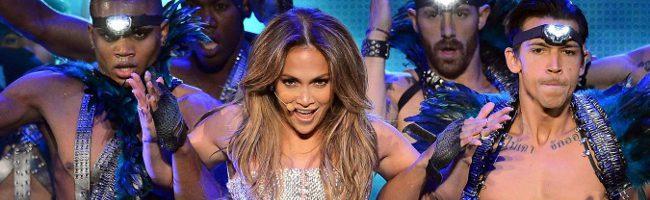 Jennifer Lopez en una de sus actuaciones