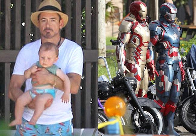 Robert Downey Jr. en el rodaje de Iron Man 3