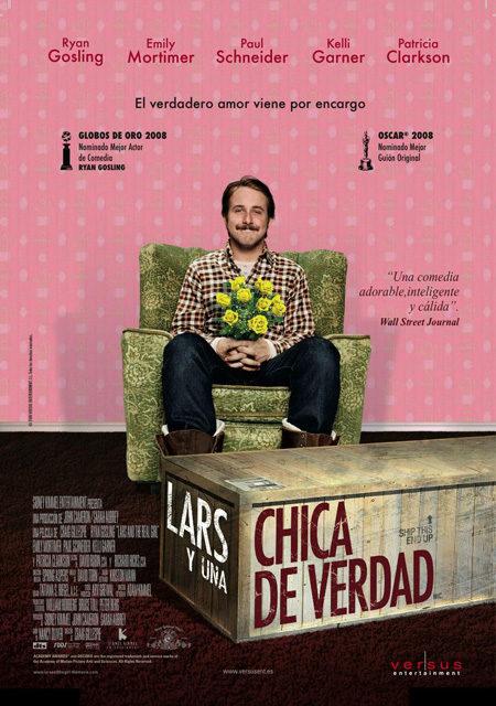 Cartel en castellano de 'Lars y una chica de verdad'