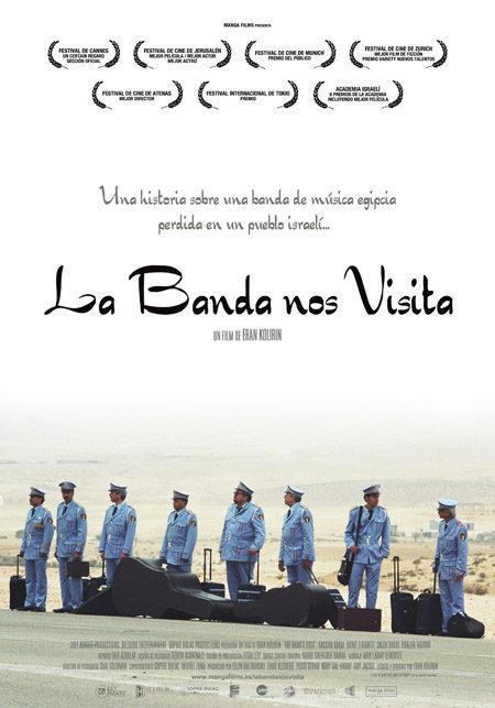 Cartel en castellano de 'La banda nos visita'