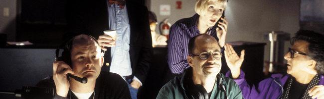 Anne Heche y Dustin Hoffman en 'La cortina de humo'
