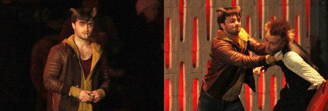 Daniel Radcliffe muestra su lado más violento en las primeras imágenes del rodaje de 'Horns'