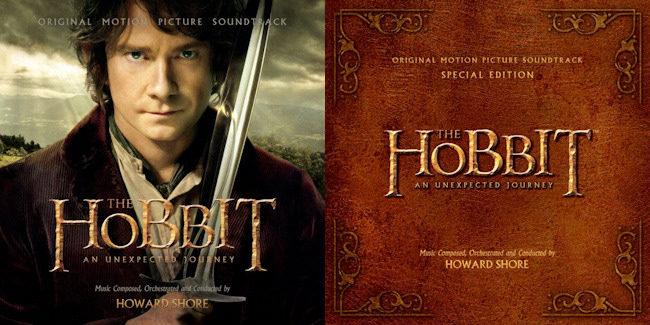 Portadas de la banda sonora de El Hobbit Un viaje inesperado