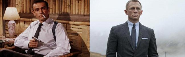 Sean Connery y Daniel Craig como James Bond