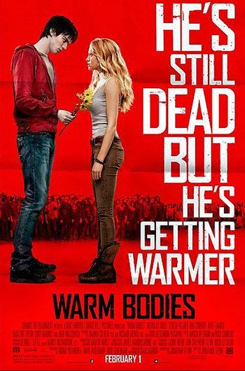 Nicholas Hoult regala flores a Teresa Palmer en el nuevo póster de 'Warm Bodies'
