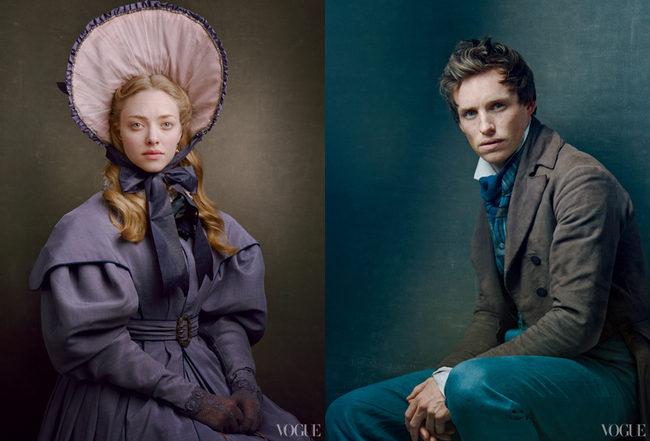 Amanda Seyfried como Cosette; y Eddie Redmayne como Marius