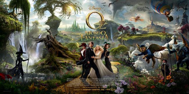Tríptico de carteles de 'Oz, un mundo de fantasía'