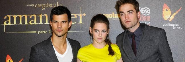 Taylor Lautner, Kristen Stewart y Robert Pattinson estrenan en Madrid 'Amanecer: Parte 2'