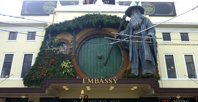 Estatua de Gandalf en el Embassy Theater de Wellington
