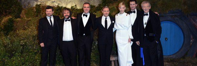 El reparto de 'El Hobbit: Un viaje inesperado' en el estreno en Londres
