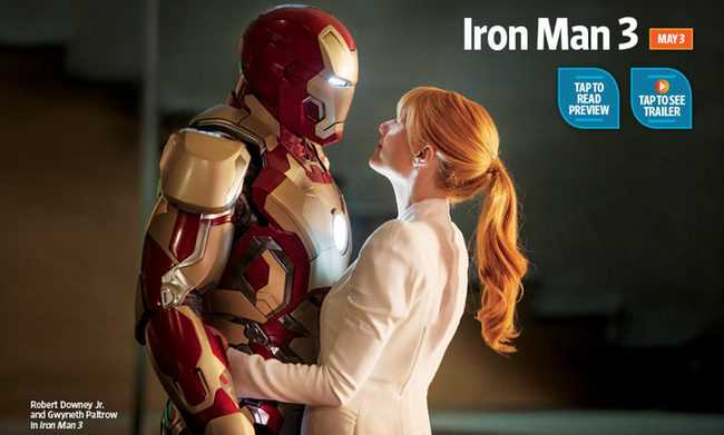 Tony Stark y Pepper Potts 'Iron Man 3'