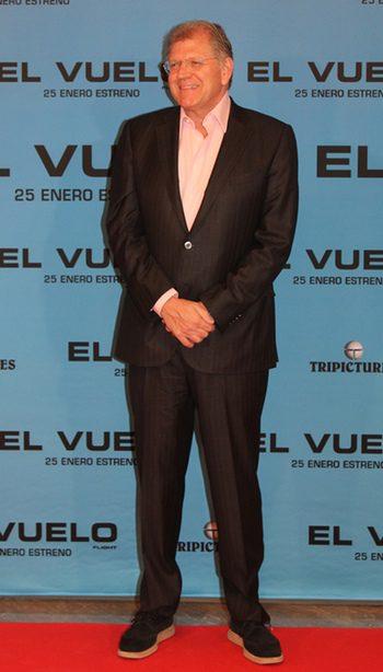 Robert Zemeckis en la presentación de El vuelo en Madrid