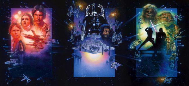 Diseños de Drew Struzan para Star Wars