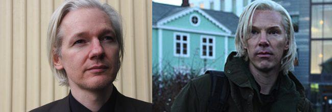 Julian Assange y Benedict Cumberbatch
