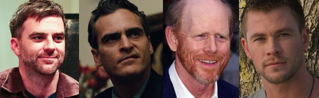 Paul Thomas Anderson, Joaquin Phoenix, Ron Howard y Chris Hemsworth