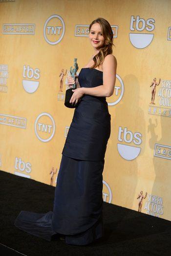 Jennifer Lawrence en los Screen Actors Guild Awards 2013
