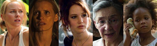 Nominadas al Oscar 2013 a Mejor actriz protagonista