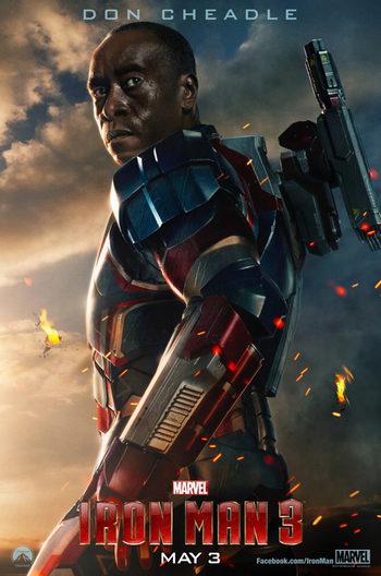 Póster de Don Cheadle en 'Iron Man 3'