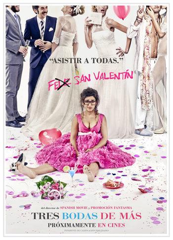 Póster 'Tres bodas de más'