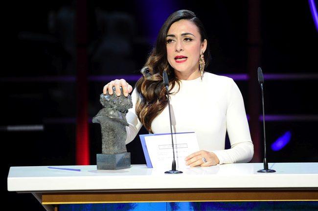Candela Peña en los Goya 2013