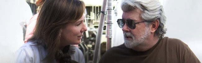 Kathleen Kennedy y George Lucas