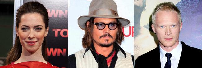 Rebecca Hall, Johnny Depp y Paul Bettany
