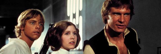 Luke Skywalker, Leia y Han Solo
