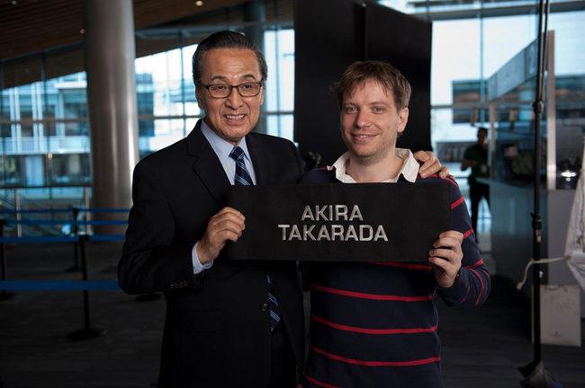 Akira Takarada y Gareth Edwards
