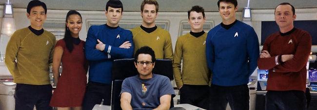 J.J. Abrams junto al reparto de 'Star Trek'