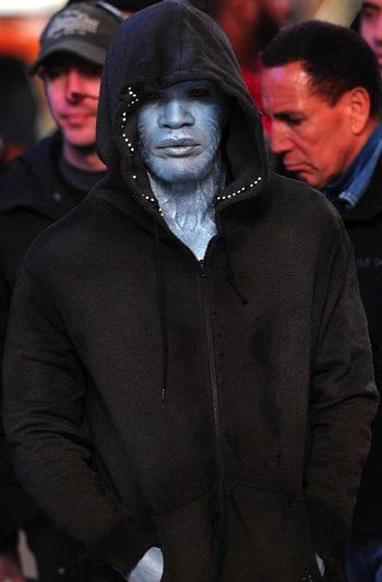 Jamie Foxx en el rodaje de 'The Amazing Spider-Man 2'