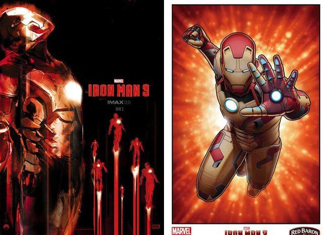 Nuevo póster IMAX y carteles de reputados ilustradores para 'Iron Man 3'