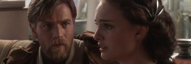 Ewan McGregor y Natalie Portman en Star Wars