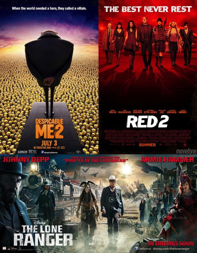 'Gru, mi villano favorito 2' - 'RED 2' - 'El llanero solitario'