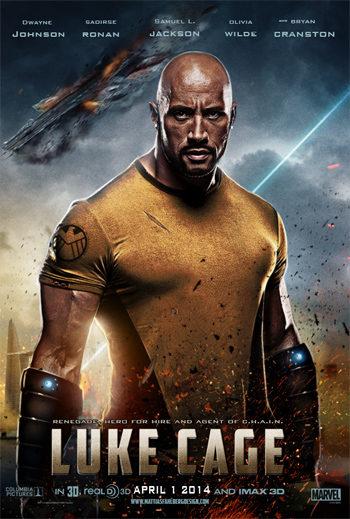 Fan-art de Dwayne Johnson como Luke Cage