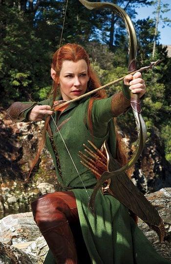 Evangeline Lilly en El Hobbit: La desolación de Smaug