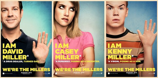 Pósters individuales de 'We're the Millers'