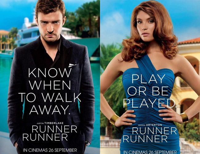 Póster de Justin Timberlake y Gemma Arterton de 'Runner Runner'