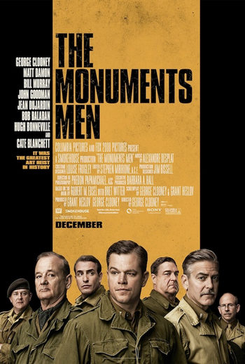 Póster de 'The Monuments Men' con George Clooney, Bill Murray y Cate Blanchett