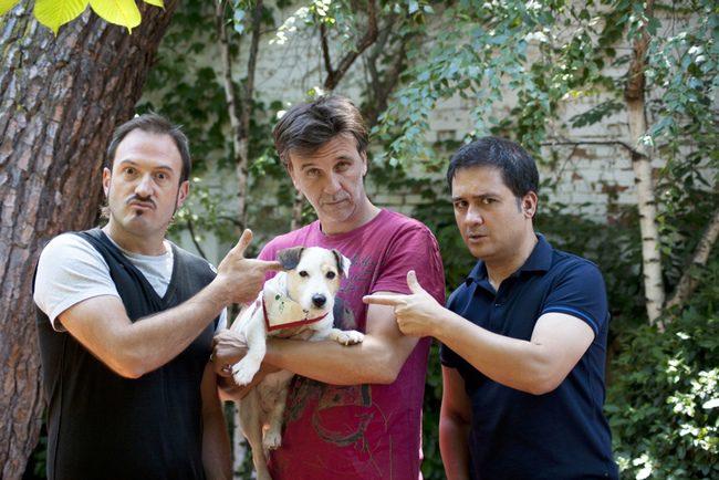 Alex O'Dogherty, Armando del Río y Secun de la Rosa con Pancho