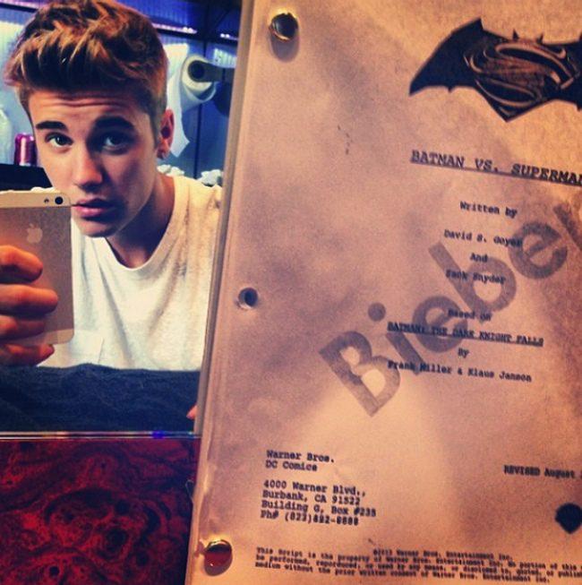 Justin Bieber y el supuesto guion de Batman Superman